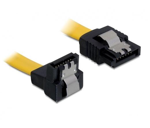 DELOCK cable SATA down/straight metal yellow 70cm  (82482)