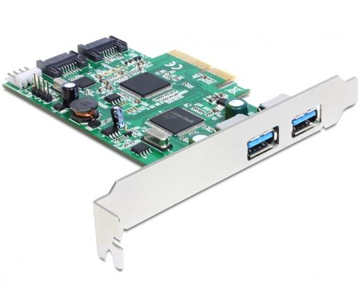 I/O DELOCK PCI-E -> 2x USB 3.0 external, 2x SATA 6Gb/s (89359)