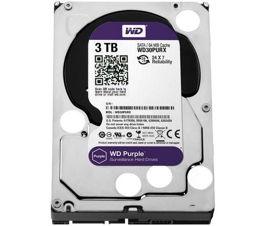 HDD WD 3TB 64MB CACHE SATA-III Purple WD30PURX