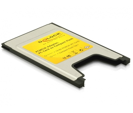 CARD READER DELOCK PCMCIA kártyaolvasó Compact Flash-hez (91051)
