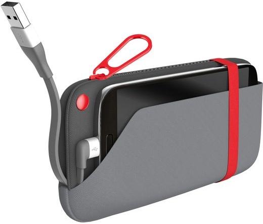 Emtec Power Pouch U500AN Android akkumulátor+tartó (6000mAh, microUSB+USB)