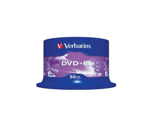 VERBATIM DVD+R 4,7GB 16X CAKE*50  43550