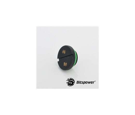 "Bitspower Lezáró dugó G1/4"" - Low Profile, Matt Black"