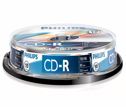 Philips CD-R80CB*10 cake-box 52x csomag