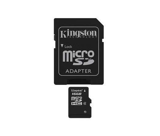 Card MICRO SD Kingston 16GB 1 Adapter CL4