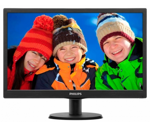 "MON PHILIPS 18,5"" LED 193V5LSB2/10 EPEAT Silver ES 6.0 fekete"