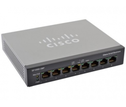 NET CISCO SF100D-08 10/100 DESKTOP SWITCH 8-Port