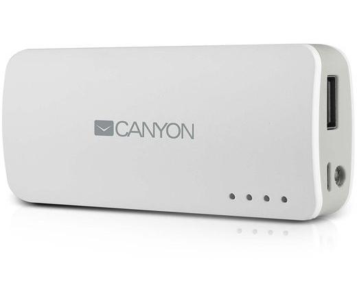 CANYON CNE-CPB44W 4400mAh Powerbank fehér
