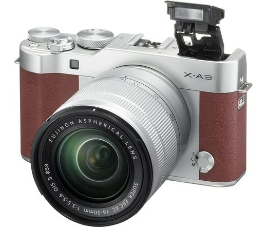 FUJIFILM X-A3 + 16-50mm Barna Kit