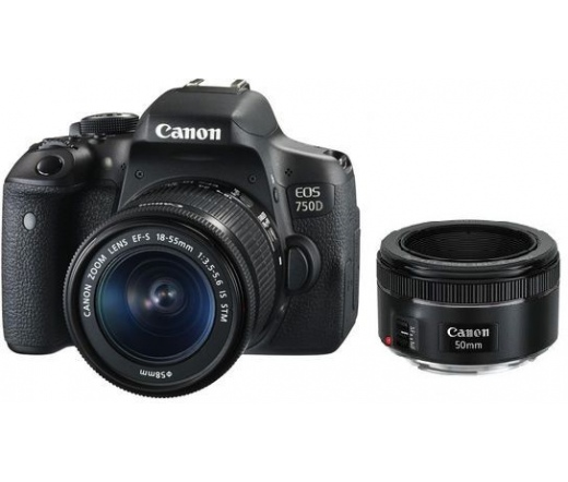 CANON EOS 750D + EF-S 18-55mm f/3.5-5.6 IS STM + EF 50mm f/1.8 STM kit