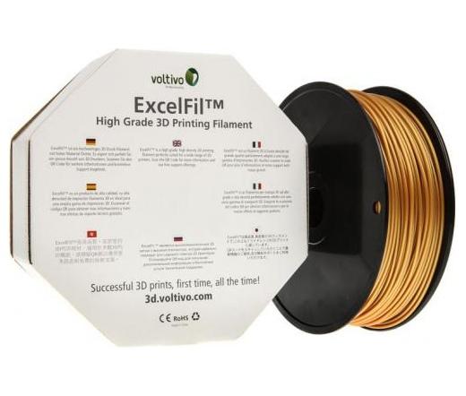 Voltivo ExcelFil 3D PLA 3mm gold