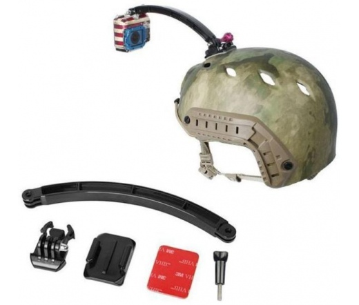 SJ/GP-82 rögzítőkar sisakhoz (20 cm) 3M ragasztólappal, aljzattal, csatos konzollal, csavarral sportkamerához