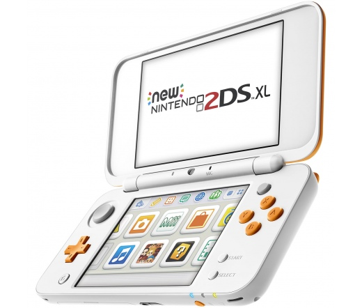 KON New Nintendo 2DS XL White & Orange
