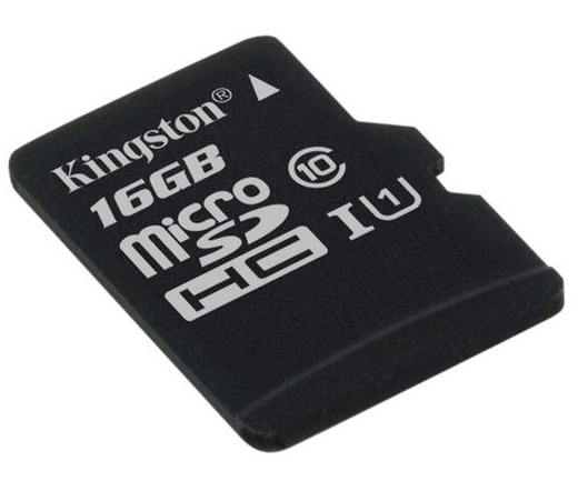 Card MICRO SD Kingston 16GB adapter nélkül UHS-I CL10 G2