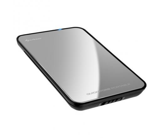 """MOBIL RACK SHARKOON QuickStore Portable 2,5"""" SATA HDD - USB2.0 Tükröződő"""