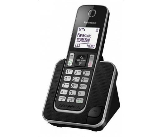 TEL Panasonic KX-TGD310PDB Dect Telefon fekete
