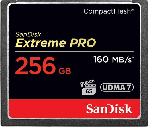 CF CARD 256GB SANDISK EXTREME PRO 160MB/s