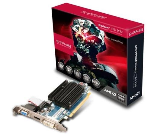 VGA SAPPHIRE R5 230 2GB DDR3 HDMI,DVI,VGA, BULK