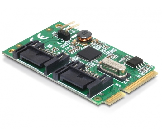 I/O DELOCK MiniPCIe full size -> 2 x SATA 6 Gb/s (95233)