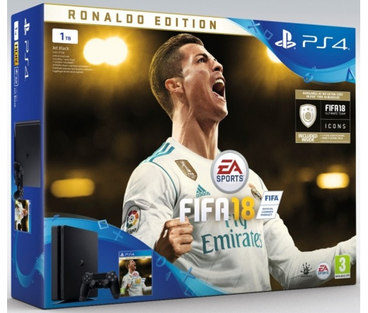 PS4 Playstation 4 Slim 1TB + FIFA 18 Delux