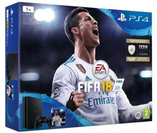 PS4 Playstation 4 Slim 1TB + FIFA 18 + DS4 kontroller