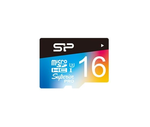 Card MICRO SD Silicon Power 16GB Superior UHS-1 U3 color