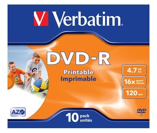VERBATIM DVD-R 4,7GB 16X PRINTABLE FULL ID BRAND JEWEL CASE*1 43521