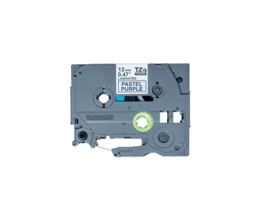 BROTHER P-touch TZe-MQF31 laminált szalag (lila/fekete)