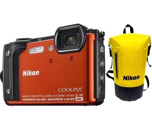 NIKON COOLPIX W300 Holiday Kit narancs