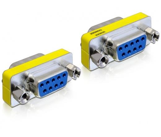 DELOCK Adapter Gender Changer Sub-D9 female / female (65008)