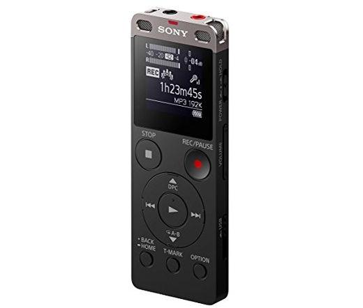 SONY ICD-UX560B Diktafon 4BG beépített (bővíthető) memória