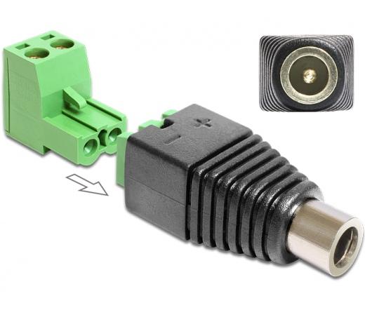 DELOCK Adapter DC 2.5 x 5.5 mm female > Terminal Block 2 pin 2-part (65486)