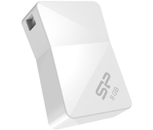Pendrive 8GB Silicon Power Touch T08 White USB2.0