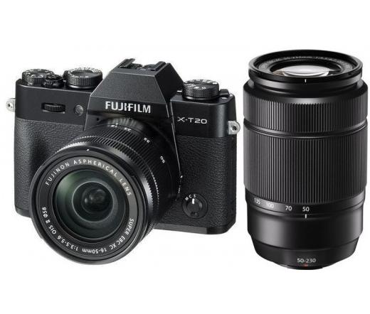 FUJIFILM X-T20 XC16-50mm f/3.5-5.6 OIS II XC50-230mm f/4.5-6.7 OIS II Fekete Kit