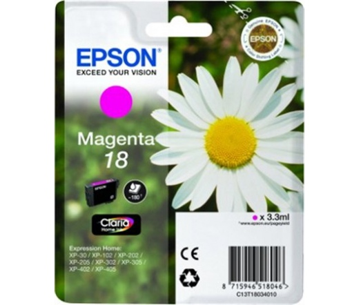 Patron Epson T1803 Magenta Claria