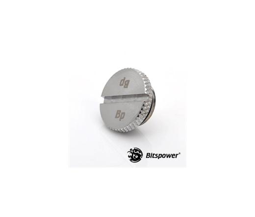 """Bitspower Lezáró dugó G1/4"""" - Low Profile, Silver Shining"""