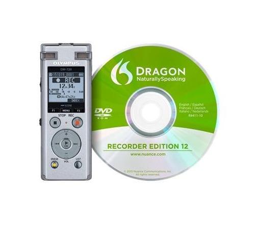 OLYMPUS DM-720 Diktafon + DNS12 (angol) beszédfelismerő szoftver