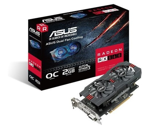 VGA Asus RX560-O2G 2GB DDR5