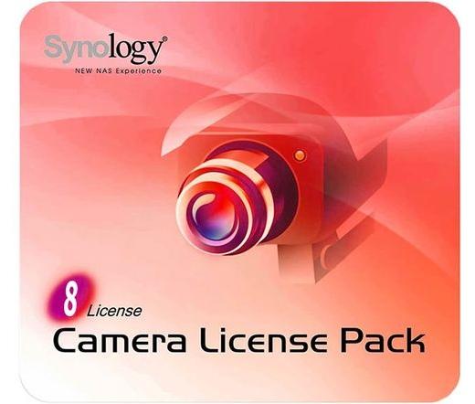 NAS SYNOLOGY Camera 8 8 darab kameralicenc