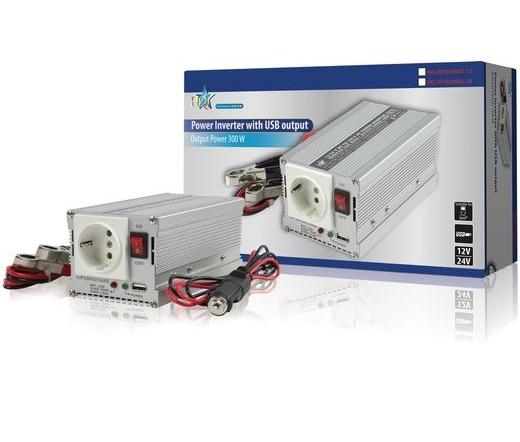 HQ Power Inverter 12V to 220V (300Watt)