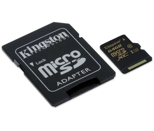 Card MICRO SD Kingston 64GB Gold UHS-I Class3
