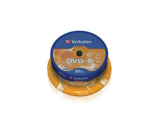 VERBATIM DVD-R 4,7GB 16X CAKE*25  43522