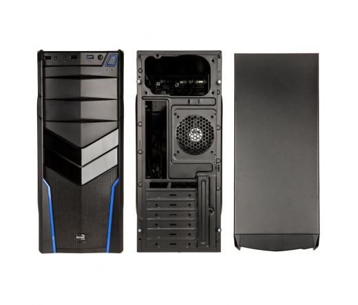 HÁZ AEROCOOL V2X Blue Edition Midi-Tower fekete/kék