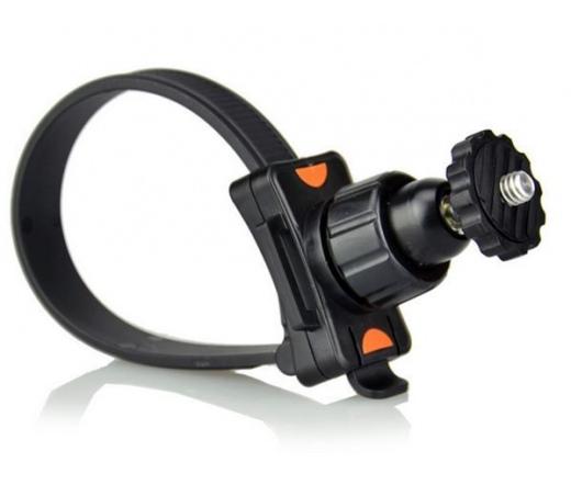 SJ/GP-140 360 fokban elforgatható gyorsszorítós tartókonzol csővázra, sportkamerához (SJCAM, GoPro)