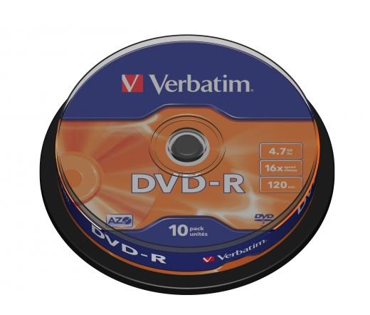 VERBATIM DVD-R 4,7GB 16X CAKE*10  43523