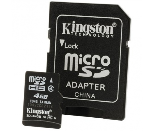 Card MICRO SD Kingston 4GB 1 Adapter