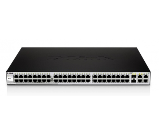 NET D-LINK DES-1210-52 48x100Mbps Smart Switch + 2 combo 1000BaseT/SFP + 2 Gigabit