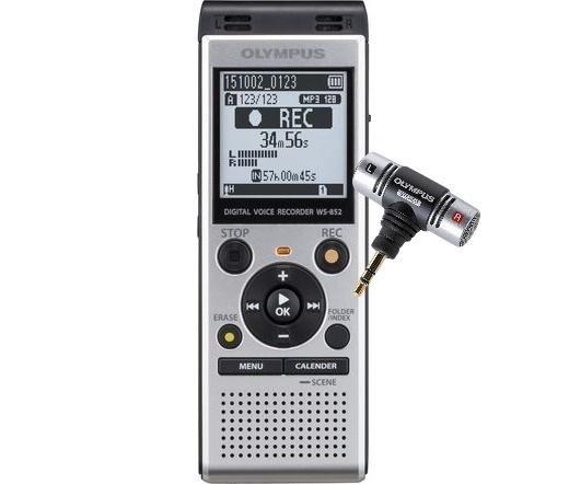 OLYMPUS WS-852 + ME51 mikrofon 4GB ezüst