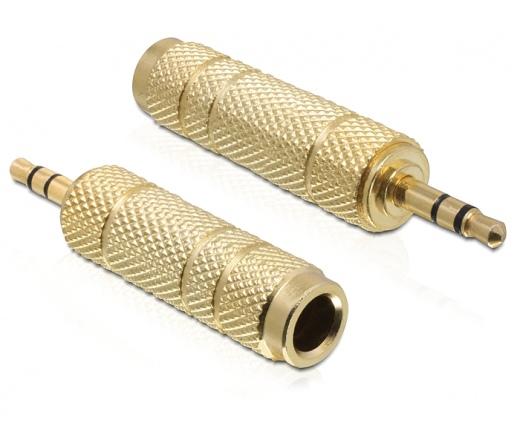 DELOCK Adapter Stereo plug 3.5 mm 3 pin > Stereo jack 6.35 mm 3 pin metal (65360)