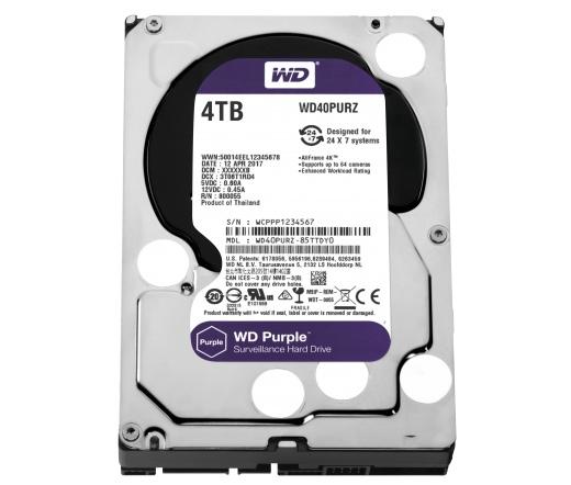 HDD WD 4TB 64MB CACHE SATA-III Purple WD40PURZ